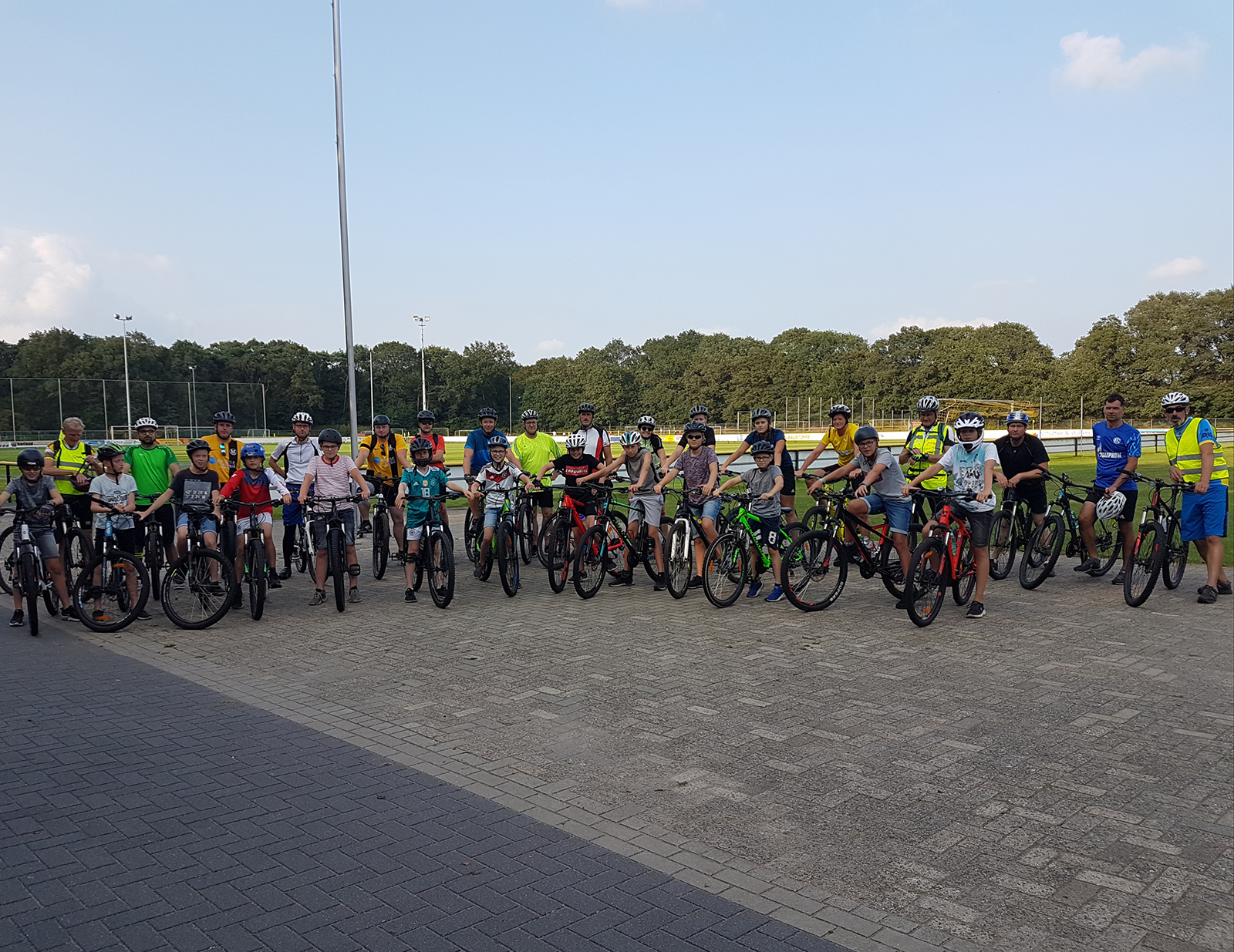 Mountainbike Gruppe