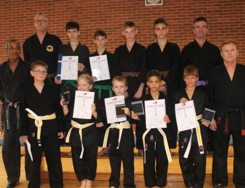 Erfolgreiche Gurtprüfungen beim SCU-Emlichheim Abteilung Karate am 05.09.2019